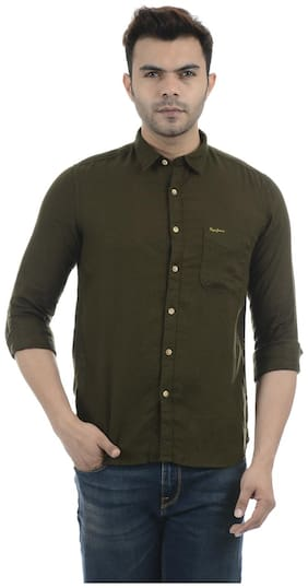 Men Regular Fit Solid Casual Shirt