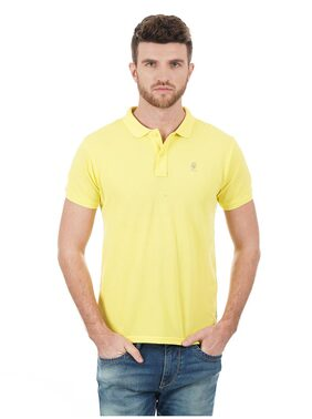 Pepe Jeans Men Regular Fit Polo Neck Solid T-Shirt - Yellow