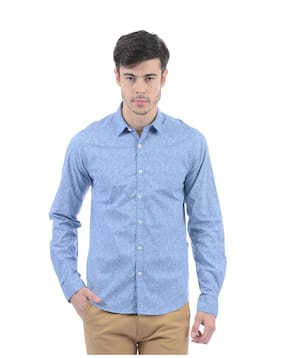Pepe Jeans Men Slim Fit Casual shirt - Blue