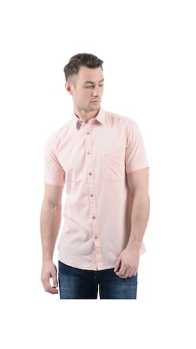 Buy Pepe Jeans Men Solid Pink Shirts Online at Low Prices in India ...