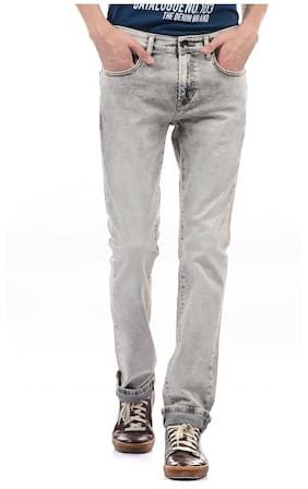 Pepe Jeans Men's Mid Rise Slim Fit Jeans - Grey