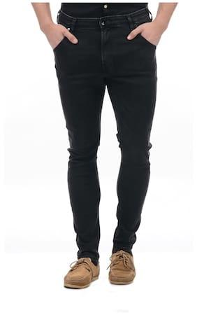 Pepe Jeans Men's Mid Rise Slim Fit Jeans - Black