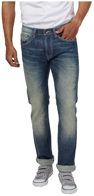4e7208879f Buy Pepe Jeans Men Low rise Slim fit Jeans - Blue Online at Low ...