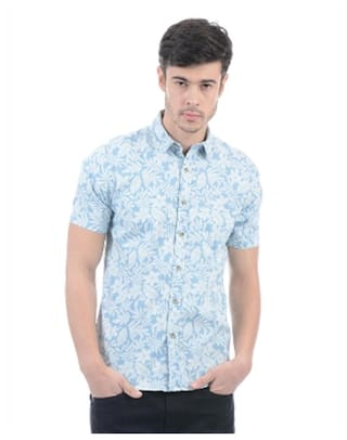 2e6c149831f Buy Pepe Jeans Men Slim Fit Casual shirt - Blue Online at Low Prices ...