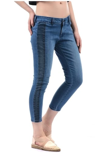 Solid Women Ankle Pepe Jeans Jegging B4nx11UcW