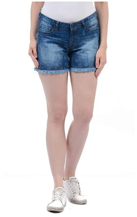 Pepe Jeans Women Blue Cotton Short