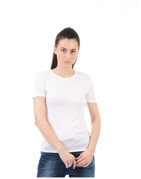 Pepe Jeans Solid White T Shirt