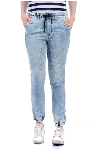 Pepe Jeans Women Solid Jogger Jean