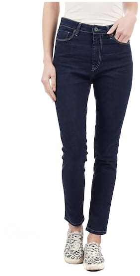 Pepe Jeans Women Slim Fit Low Rise Solid Jeans - Blue