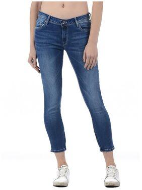 Pepe Jeans Women Blue Cotton Ankle Length Jean