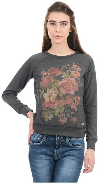 Pepe Jeans Women Printed Sweatshirt - Grey
