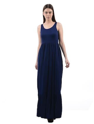7186a0fe8a Buy Pepe Jeans Cotton Solid A-line Dress Blue Online at Low Prices ...