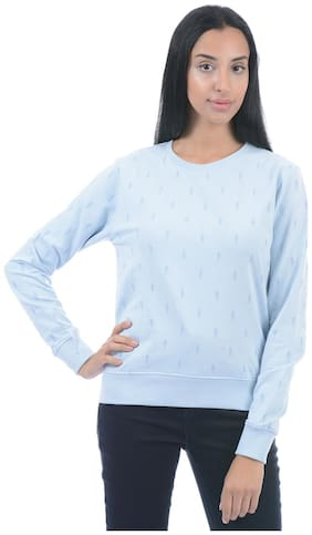 Pepe Jeans Women Solid Sweatshirt - Blue