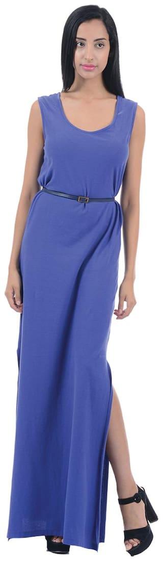 Pepe Jeans Cotton Solid A-line dress Blue