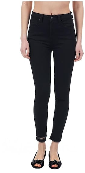 Pepe Jeans Women Skinny Fit High Rise Solid Jeans - Black