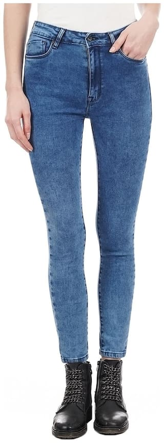 Pepe Jeans Women Skinny Fit Low Rise Solid Jeans - Blue