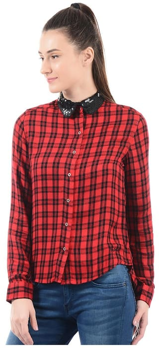 Women Pepe Pepe Jeans Jeans Women Checkered Shirt IgwTvf