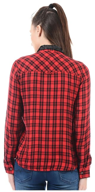 Shirt Women Pepe Pepe Jeans Jeans Checkered 0gqU8xwp