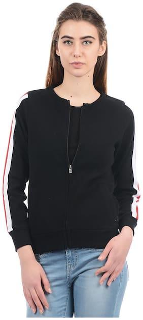 Pepe Jeans Women Solid Sweatshirt - Black