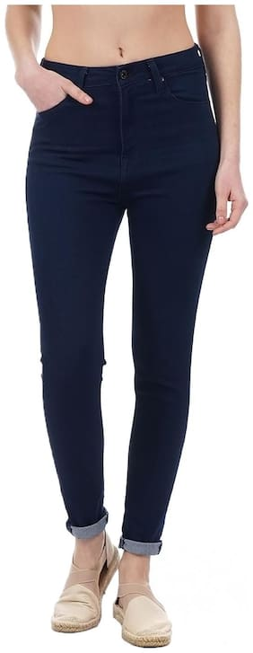 Pepe Jeans Women Skinny Fit High Rise Solid Jeans - Blue