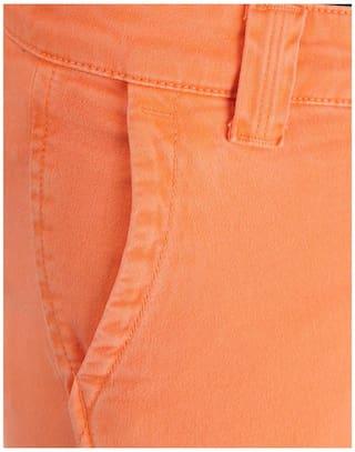 Pepe Solid Women's Orange Pants Jeans rq7RWp4nwr