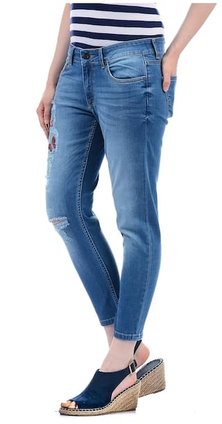 Embroidered Jean Ankle Pepe Women Jeans qfXw8TxRp