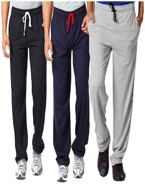 PepperSpirit Men Cotton Track Pants - Multi