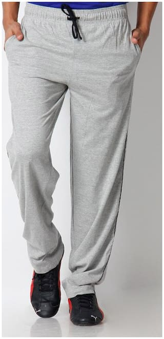 PepperSpirit Men Cotton Track Pants - Grey