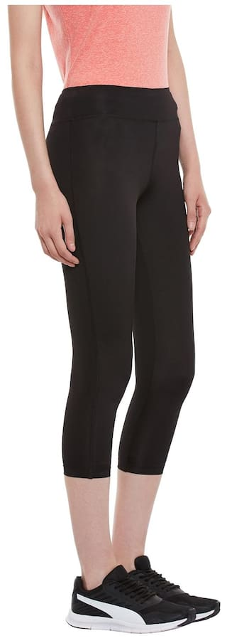 Black Fitted 3 4Th PERF Women for Legging Lycra fdAwxHFq