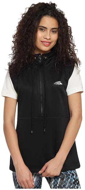 PERF Women Printed Sports Jacket - Black