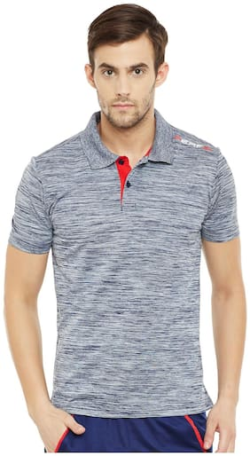 PERF Men Grey Regular fit Sports T-Shirt