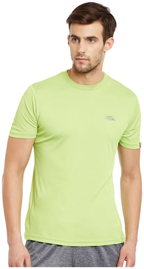 PERF Men Green Slim fit Sports T-Shirt