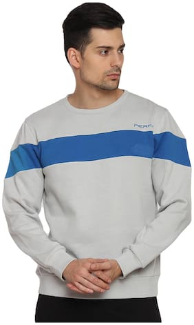 PERF Lightgrey Men Engineered Transfer Sweatshirts