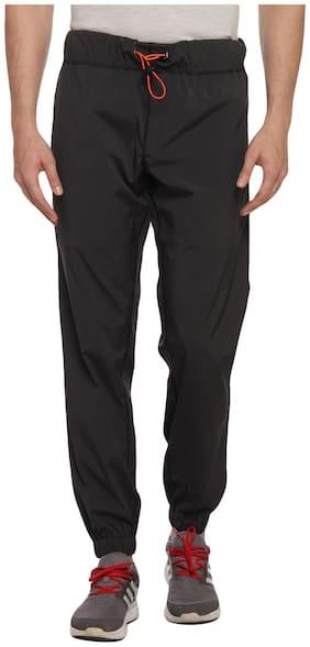 PERF Men Polyester Blend Track Pants - Black