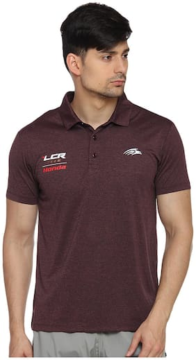 PERF Men Polo neck Sports T-Shirt - Brown