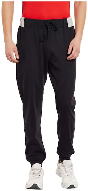 PERF Men Cotton Track Pants - Black
