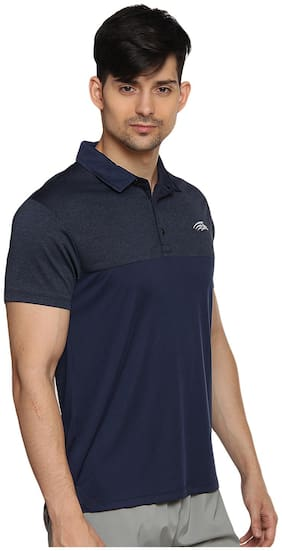 PERF Men Polo neck Sports T-Shirt - Blue