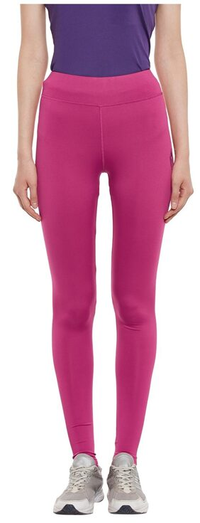 PERF Pink Rush Lycra Full Fitted Tights for Women