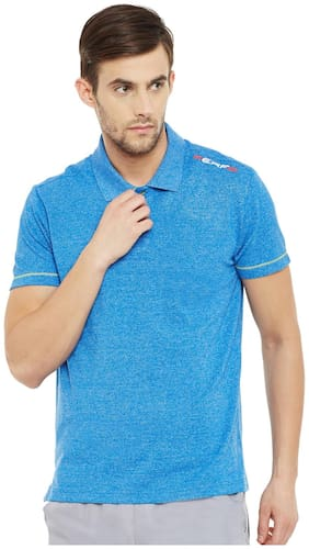 PERF Men Blue Regular fit Sports T-Shirt
