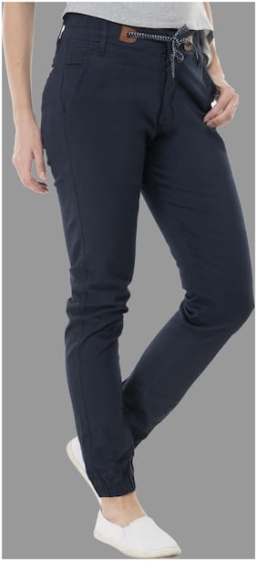 Perfect Outlet Women Slim fit High rise Solid Jogger - Blue