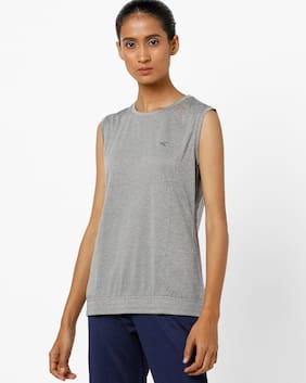 Performax By Reliance Trends Grey T-Shirt