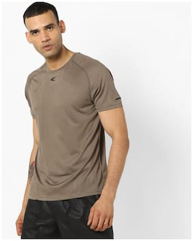 Performax By Reliance Trends Men Brown T-Shirt