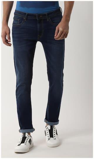 Peter England Men Mid rise Slim fit Jeans - Blue