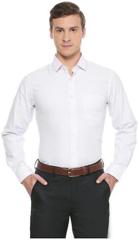 Peter England Men Slim Fit Formal Shirt - White