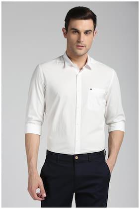 Peter England Men Super Slim Fit Casual shirt - White