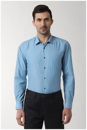 Men Regular Fit Striped Formal Shirt