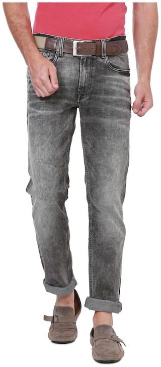 Peter England Men Grey Regular Fit Jeans