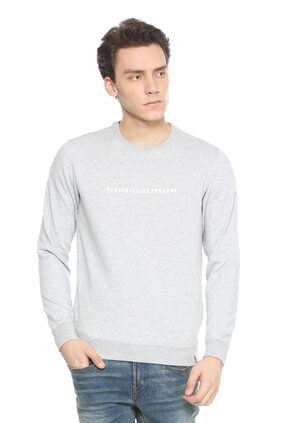 Peter England Grey Sweatshirt