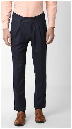 Peter England Formal Trouser Blended Blue