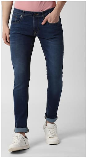 Peter England Men Mid rise Skinny fit Jeans - Navy blue